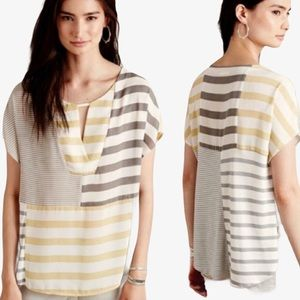 One September Madrigal Top Mixed Media Stripe XL